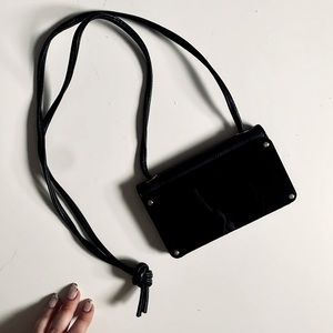 Free with purchase! Mini leather cross body purse